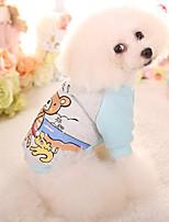 Hund Pullover Hundekleidung Lässig/Alltäglich Kartoon Fuchsia Blau