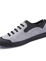 Women's Shoes PU Spring Fall Comfort Sneakers Flat Heel Round Toe Lace-up For Casual Blue Gray Black