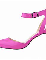 Femme Chaussures Polyuréthane Eté Escarpin Basique Chaussures à Talons Talon Aiguille Bout pointu Pour Décontracté Noir Orange Violet