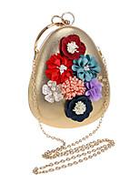 Damen Taschen Ganzjährig Polyester Abendtasche Blume(n) Perlen Verzierung für Hochzeit Veranstaltung / Fest Blau Gold Schwarz Silber Rote