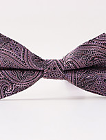 Men's Polyester Cotton Blend Bow TieNeckwear Jacquard All Seasons