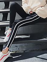 Women's Thin Stitching Legging,Striped