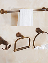 Towel Bar Towel Ring Toilet Paper Holder Robe Hook Towel Warmer / Antique Brass Classical