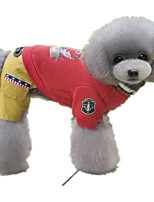 Dog Clothes/Jumpsuit Dog Clothes Casual/Daily Sailor Red Gray