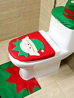 3pc/set Christmas Elves Toilet Seat Cover Toilet Sets Christmas Decorations Bath Mat Holder Closestool Lid Toilet CoverNavidad