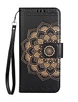 Per iPhone X iPhone 8 iPhone 8 Plus Custodie cover A portafoglio Porta-carte di credito Con chiusura magnetica Decorazioni in rilievo