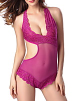 Women's Lace Lingerie Ultra Sexy Nightwear Solid-Translucent Polyester