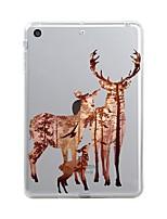 Недорогие -Назначение iPad (2017) Чехлы панели Прозрачный С узором Задняя крышка Кейс для Рождество Мягкий Термопластик для Apple iPad (2017) iPad