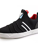 Women's Shoes PU Spring Fall Comfort Sneakers Flat Heel Round Toe For Casual Black/White Red Black
