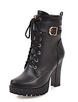 Femme Chaussures Polyuréthane Automne Hiver Confort Nouveauté Bottes à la Mode Botillons Bottes Gros Talon Bout rond Bottine/Demi Botte