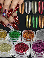 Glitter Accessories Powder Mirror 3-D Christmas Flash DIY Supplies Nail Salon Tool Hand Rests