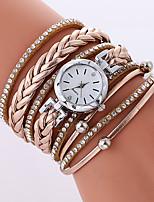 Per donna Orologio alla moda Orologio braccialetto Quarzo PU Banda Fantastico Casual Nero Bianco Beige