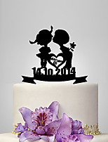 Cake Topper Classic Couple Plastic Wedding Anniversary Classic Theme Romance Wedding Poly Bag