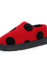 Feminino Sapatos Camurça Inverno Botas de Neve Botas Rasteiro Ponta Redonda Para Casual Vermelho Verde Rosa claro Khaki