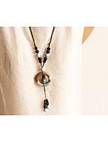 Жен. Ожерелья с подвесками Геометрической формы Сплав Природа Мода Бижутерия Назначение Повседневные