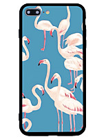baratos -Capinha Para Apple iPhone 7 / iPhone 7 Plus Antichoque / Estampada Capa traseira Flamingo / Animal Rígida Acrílico para iPhone 7 Plus / iPhone 7 / iPhone 6s Plus