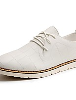 Masculino sapatos Pele Napa Primavera Outono Conforto Oxfords Cadarço Para Preto Laranja Bege