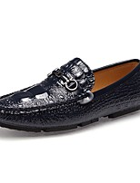Men's Shoes PU Spring Fall Comfort Loafers & Slip-Ons For Casual Outdoor Dark Blue Silver Black