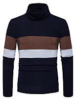 Standard Pullover Da uomo-Casual Per uscire Semplice Monocolore A collo alto Manica lunga Cotone Autunno Inverno Medio spessore