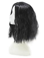 Donna Parrucche sintetiche Senza tappo Pantaloncini Riccio Nero Taglio medio corto Parrucca naturale costumi parrucche