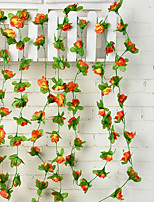 50 Branch Rattan Roses Peonies Wall Flower Artificial Flowers