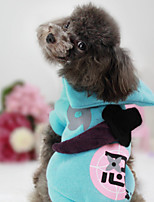Dog Sweatshirt Dog Clothes Casual/Daily Geometric Blushing Pink Blue