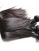 cheap -Remy Brazilian Natural Color Hair Weaves Hair Extensions Black
