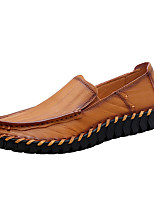 Men's Shoes Nappa Leather Spring Fall Comfort Loafers & Slip-Ons For Casual Party & Evening Dark Brown Light Brown Black