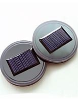 2pcs Universal Car Anti Slip Mat Waterproof Solar LED Car Cup Holder Mat Pad Bottle Drinks Coaster Built-in Vibration & Light Sensor