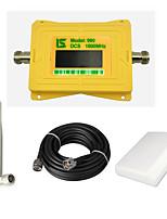 intelligente Anzeige Handy dcs 1800mhz Signal Booster dcs980 Signal Repeater Verstärker mit Peitsche Antenne / Panel Antenne / 15m Kabel