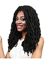 Dread Locks Hair Braid Curly Ombre Braiding Hair 100% Kanekalon Hair Black 18