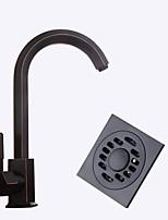 Centerset Ceramic Valve Black , Kitchen faucet