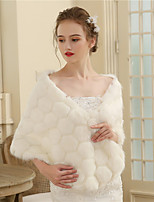 Women's Wrap Shawls Faux Fur Wedding Party/ Evening Plaid