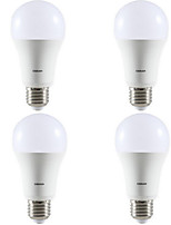 10W E27 LED Globe Bulbs 6 1100 lm Warm White 3200 K AC220 V 4pcs