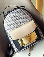 Women Bags All Seasons PU Backpack Pockets for Casual Office & Career Brown Black Gray