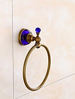 Towel Ring Contemporary Brass