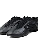 Kids' Jazz Cowhide Heel Training Low Heel Black Under 1