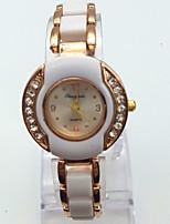 Жен. Модные часы Часы-браслет Повседневные часы Кварцевый сплав Plastic Группа Блестящие Повседневная Белый Розовое золото