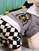 Dog Clothes/Jumpsuit Dog Clothes Casual/Daily Plaid/Check Gray