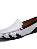 Men's Shoes Nappa Leather Fall Winter Moccasin Loafers & Slip-Ons For Casual Party & Evening Blue Black White