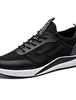 Da uomo Scarpe PU (Poliuretano) Tessuto Autunno Inverno Comoda Sneakers Lacci Per Casual Nero Blu
