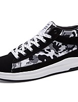 Men's Shoes PU Spring Fall Comfort Sneakers Lace-up For Casual Black/Blue Black