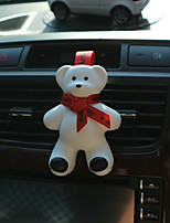 Car Air Outlet Grille Perfume Red Ribbon Cute Big Bear Encounter Fragrance Ocean Flavor Automotive Air Purifier
