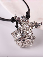 Men's Women's Pendant Necklaces Round Wings / Feather Alloy Metallic Hip-Hop Jewelry For Daily Street