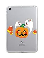 Para iPad (2017) Case Tampa Transparente Estampada Capa Traseira Capinha Transparente Halloween Macia PUT para Apple iPad (2017) iPad Pro