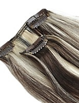 22 inch Silk straight 7 Pieces 70g Clip in Premium Remy Human Hair Extensions Clip in Hair