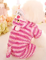 Dog Clothes/Jumpsuit Dog Clothes Casual/Daily Stripe Blushing Pink Blue