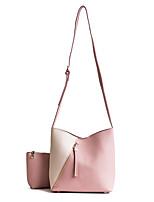 Damen Taschen Ganzjährig PU Bag Set Reißverschluss für Normal Blau Schwarz Rosa