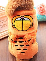 Hund Kostüme Hundekleidung Lässig/Alltäglich Kartoon Orange