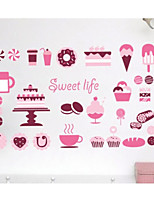 Food Wall Stickers Plane Wall Stickers Decorative Wall Stickers,Plastic Material Home Decoration Wall Decal